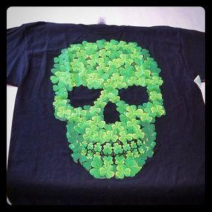 Skull Shamrocks Unisex T-Shirt Halloween!